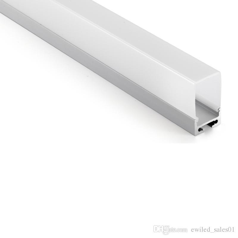 10 x 1m define / lot U tipo de perfil de alumínio anodizado e AL6063 T6 levou perfil 1M para teto ou pingente de iluminação