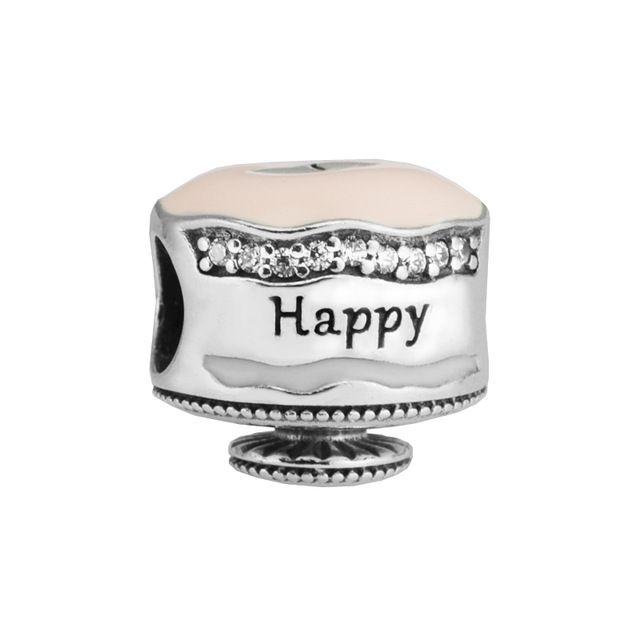 Amazing 2020 Happy Birthday Cake Charm Mixed Enamel Clear Cz 2017 Spring Birthday Cards Printable Opercafe Filternl