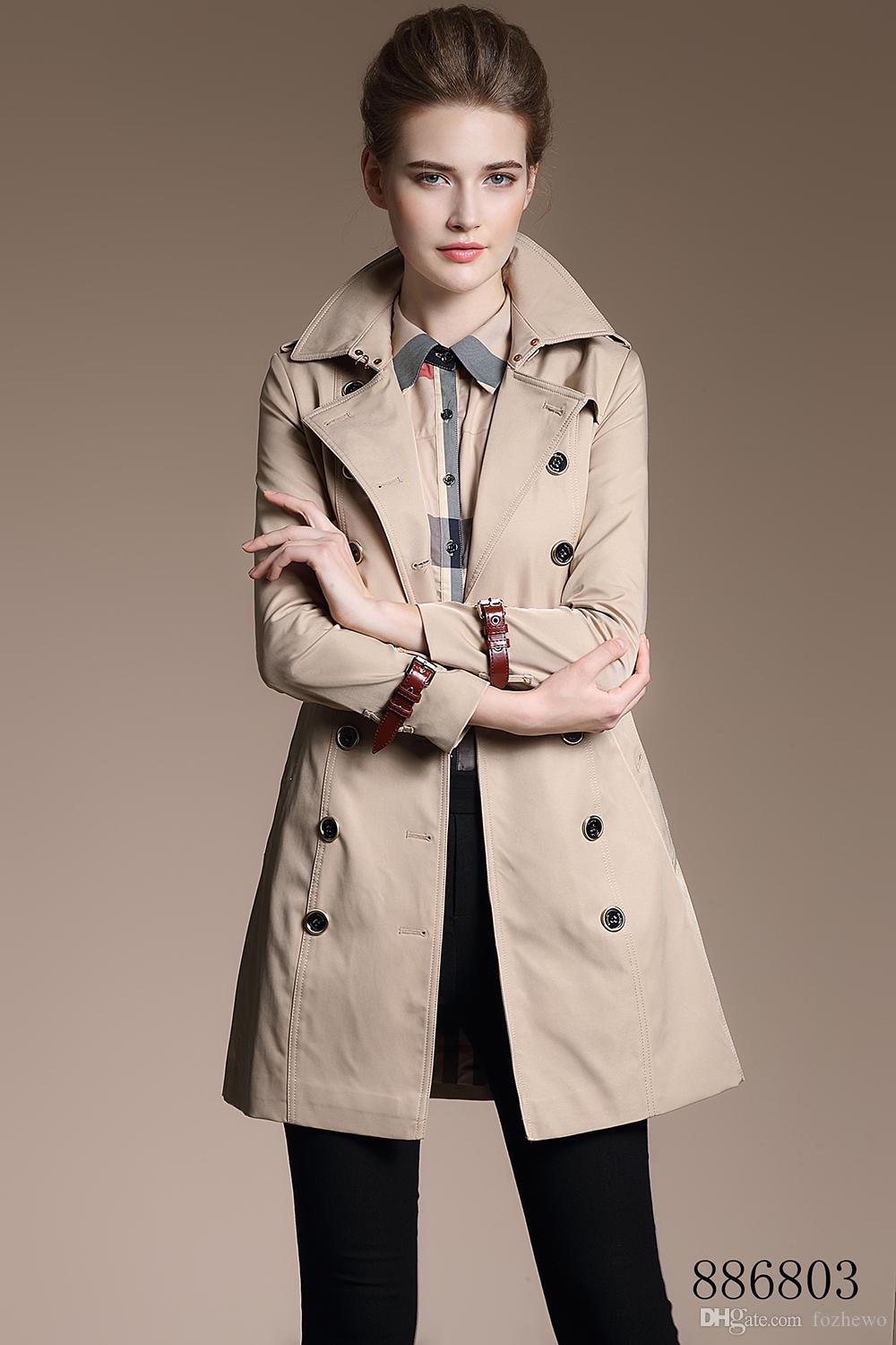 exceptional range of colors favorable price Official Website 2019 Spring Autumn New High Fashion Brand Woman Classic Double Breasted  Trench Coat Waterproof Raincoat Business Outerwear From Fozhewo, $156.78 |  ...