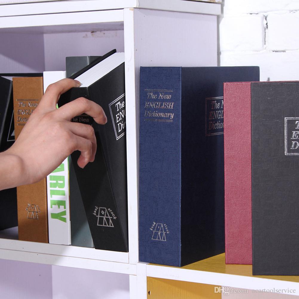 Dizionario Book Secret Hidden Security Safe Lock Cash Money Gioielli Locker Scatola di Immagazzinaggio Taglia S 4 Colori per la scelta