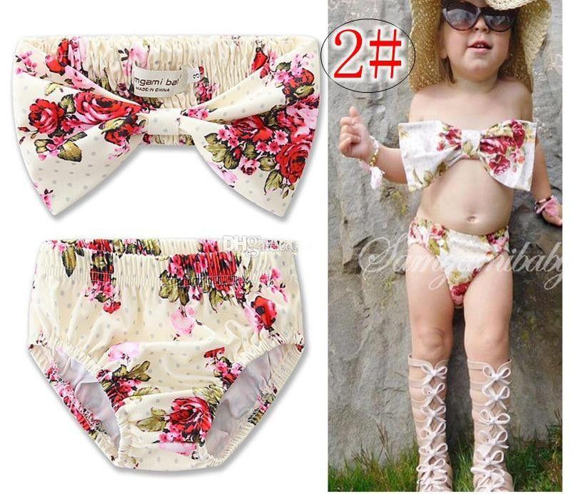 Baby Girl Kids Hat+Bra+Shorts Swimsuit Bikini Swimwear Bathing Suit Set Clothes