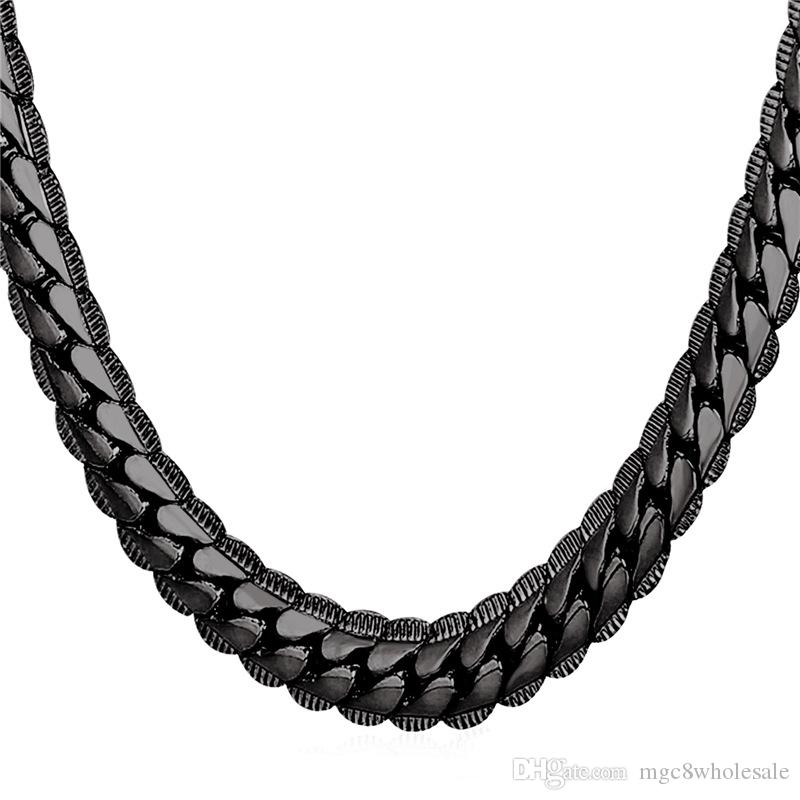 2020 U7 9mm 8 Sizes Snake Chains Black Gun Plated Chain Necklace For Men Women Fashion Jewelry Perfect Accessories Gift Men Jewelry N2489 From Mgc8wholesale 10 47 Dhgate Com