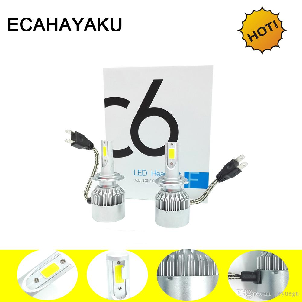 LED Car Headlight Bulbs H11 H1 H7 H3 HB3/9005 HB4/9006 12V Super Bright Halogen Replacement Auto Lights Conversion Kit