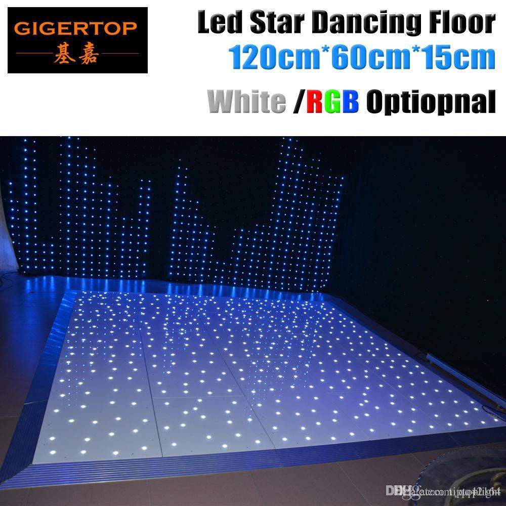 Design in Großbritannien 120cm x 60cm Led Dance Floor-Panel CE Rohs Tanzen Fläche Bühne Licht White Star Shinning Wireless Remote