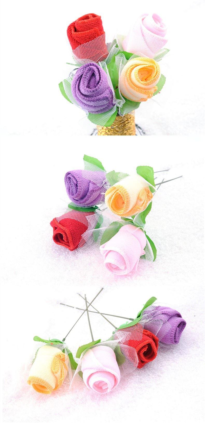 wedding towel ice cream rose flower hand towel for wedding table centerpieces decoration (14)