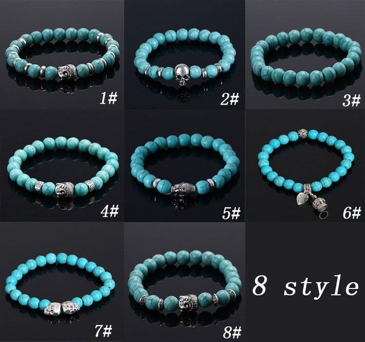 bracelet femme perle turquoise