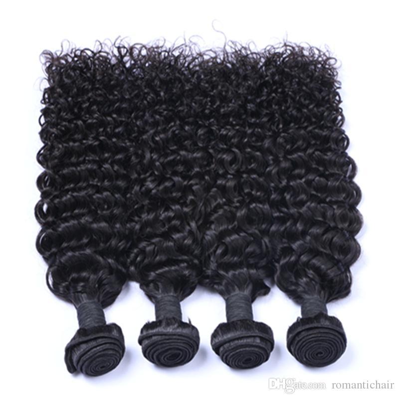 9A Virgin Brazilian Hair Malaysian Peruvian Mongolian Cambodian Indian Unprocessed Jerry Curly Brazilian Hair Bundles Best Human Hair Weave