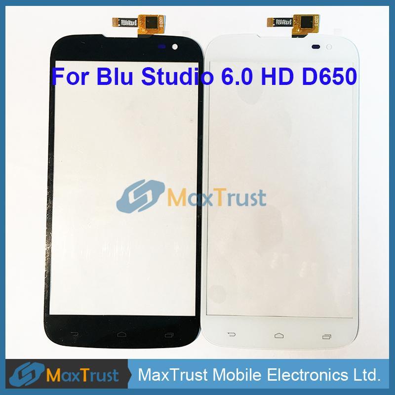 "Üst Kalite 6.0"" Blu Studio 6.0 HD D650 D650A D650i, Dokunmatik Ekran Digitizer Cam Panel Sensörü Siyah Beyaz Rengi için"