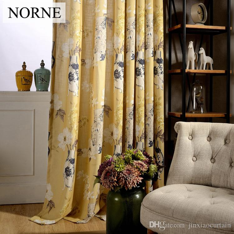 2019 Norne Modern Curtains For Living Room Bedroom Kitchen Curtains Privacy  Assured Floral Window Treatment Curtain Panel Drape From Jinxiaocurtain, ...