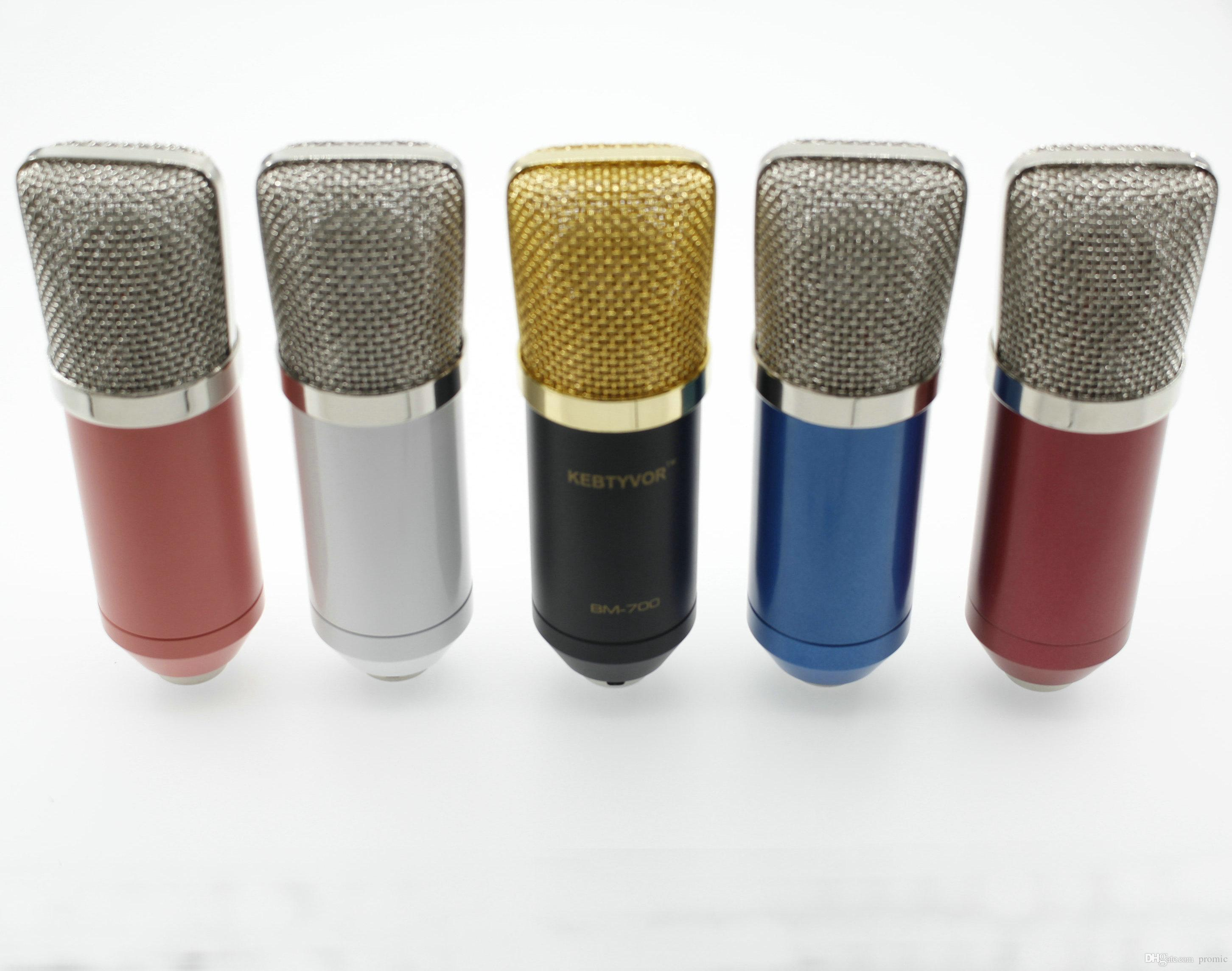 Profesyonel Kayıt Stüdyosu Mikrofonlar BM700 Kondenser Mikrofon Bilgisayar Müzik Oluşturmak Için Mikrofonun Condensador PC Mic Mike