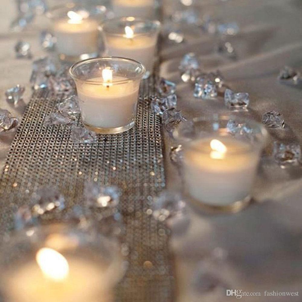 décorations de fête 1000 PCS Diamant Strand Acrylique Cristal Perle Rideau De Mariage DIY Parti Décor