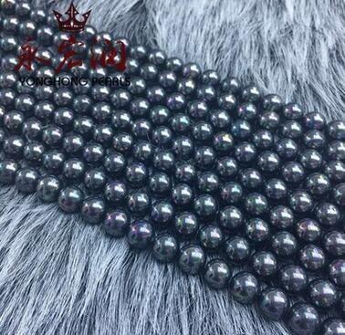 Collana di semilavorati di semilavorati di colore nero perla con foro a due fori, color perla