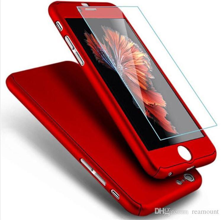 50 Pezzi Custodia Opaca Cover Full Fashion Luxury Fashion 360 Gradi IPhone 6s Custodie 6 Plus In Vetro Temperato IPhone 7 Case Plus Da Reamount, 1,77 ...