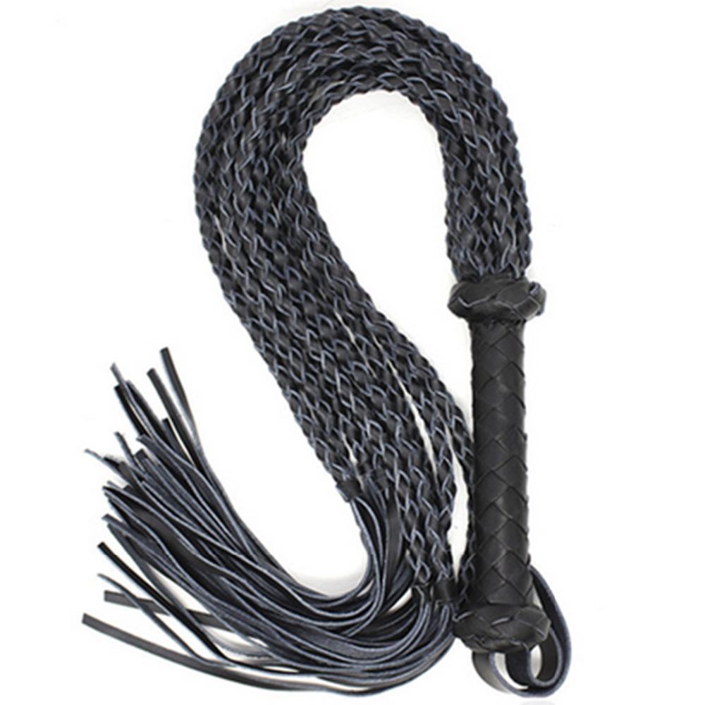 80 Cm Sex Long Genuine Leather Whip Flogger Ass Spanking Bondage Slave Bdsm Flirting Toys In Adult Games For Couples