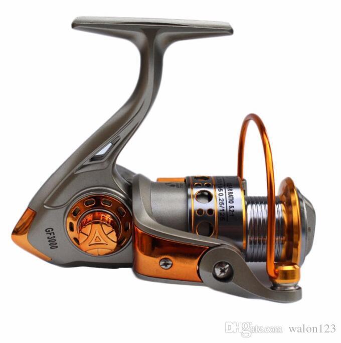 Wholesale GF 12BB 5.2:1フルアルミメタルスピニングボートフィッシングリール高品質送料無料