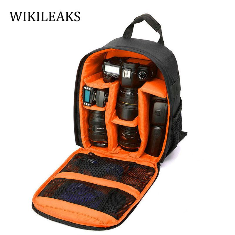 Color : Khaki XIAMEND Canvas Leather Backpack Anti-Shock SLR//DSLR Camera Travel Bag Professional Camera Bag Waterproof Camera Rucksack for Hiking Outdoor