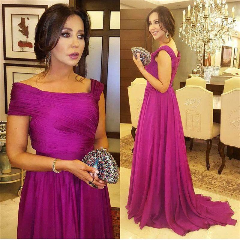 Prom Dress For Muslim Robe Longue Femme Soiree 2019 Hot Pink Chiffon ...
