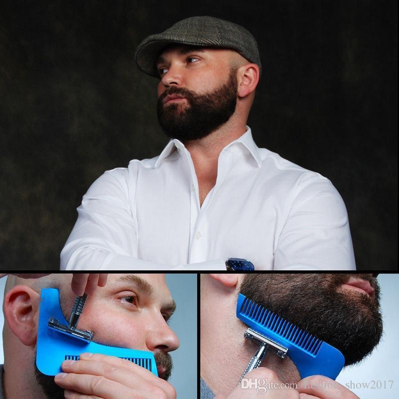 Beard Bro Beard Shaping Tool Man Gentleman Trim Template plantilla de moldura de corte de cabello herramientas de modelado de barba