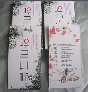 Gratis frakt Anpassade etiketter Hang Taggar 300GSM pappersklädmärke utan laminering lämplig för att skriva ord 1000pcs / parti