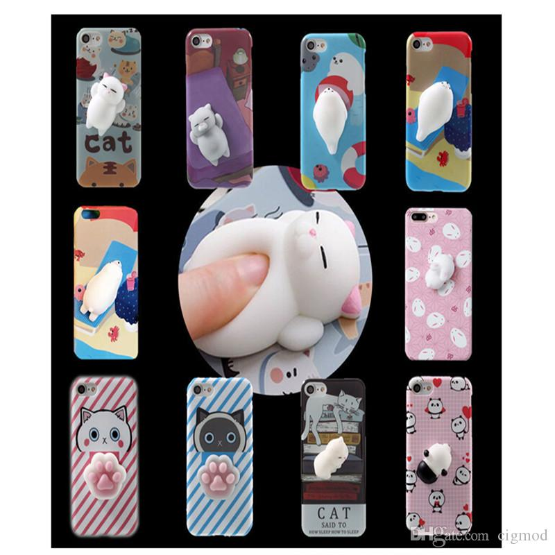 Custodie morbide in silicone per telefoni cellulari Panda Pappy Squishy Cat Coque Decompression per iPhone 7 6 6S 7 Plus