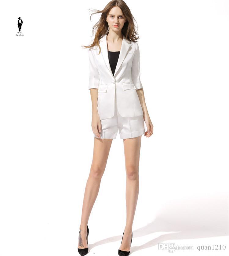 UR White Shorts Plus Size Formal Female Office Uniform Womens Pants Suits  For Wedding Blazer Set Ladies Pants Suits Women Pnats Suit Set Canada 2019