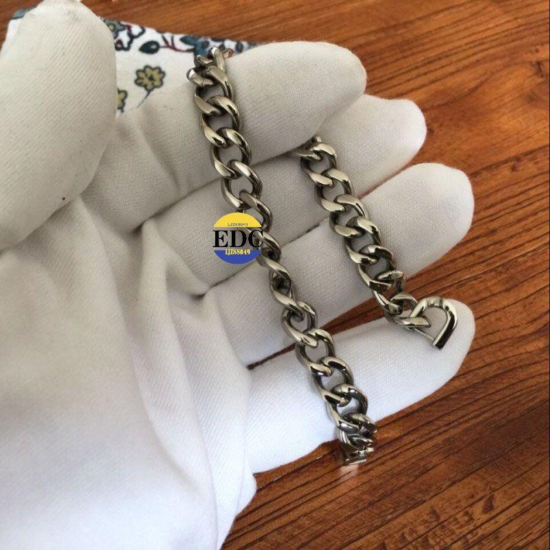 Outdoor EDC Handmade Pure Titanium Ti Chain Bracelet Health 180mm / 220mm FREE SHIPPING