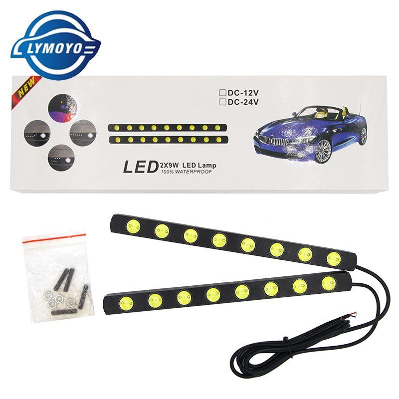 12V 10W LED Round Car Daytime Running Light DRL Head Lamp Eagle Eye White Light