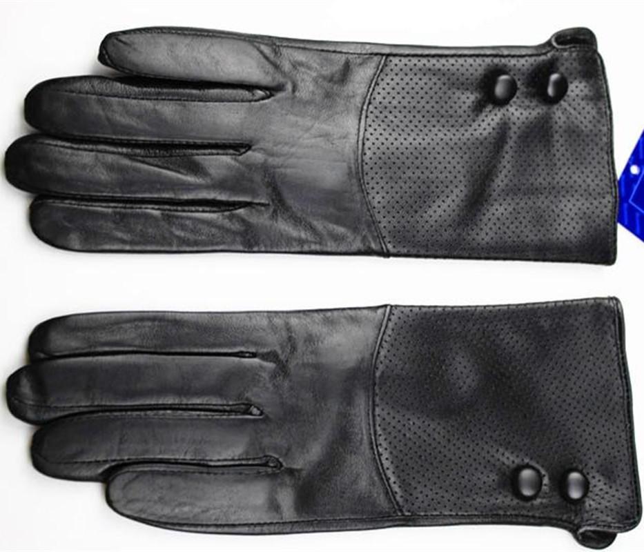 Wholesale- The new leather handbag women fashion mesh style sheepskin gloves thin velvet lining warm autumn and winter free shipping
