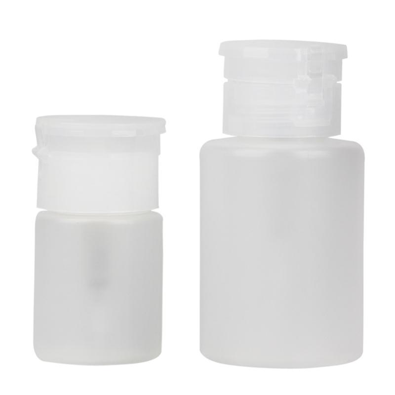 2 stücke Pumpe Dispenser Nail art Nagellackentferner Reiniger Aceton Flaschen Flüssigkeit Gel Nagellackentferner Flasche