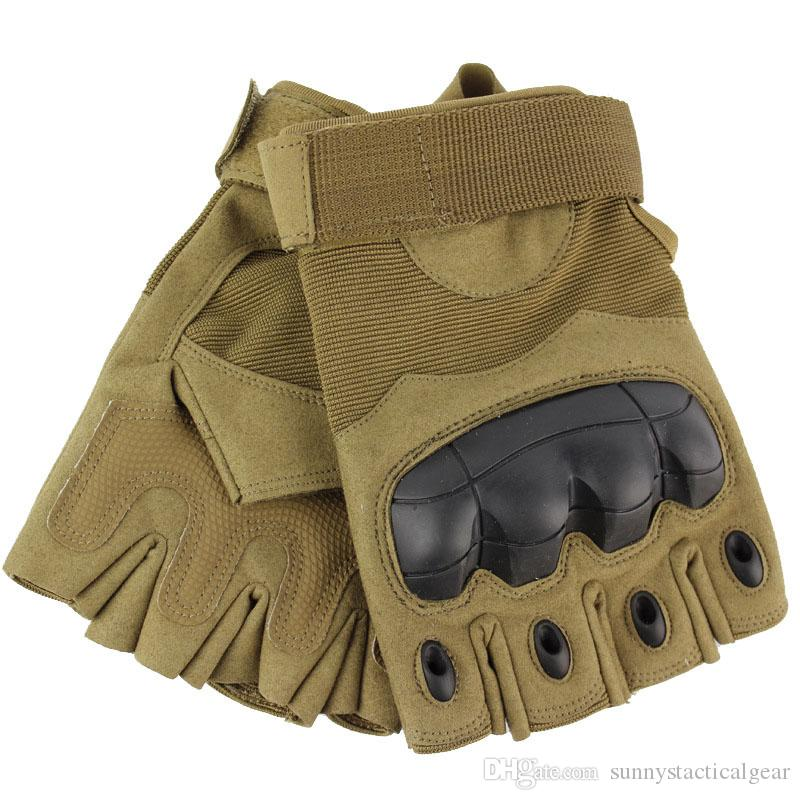 Sport all'aperto Motociclista Guanti da ciclismo Paintball Airsoft Shooting Hunting Tactical Half Finger Gloves P08-070