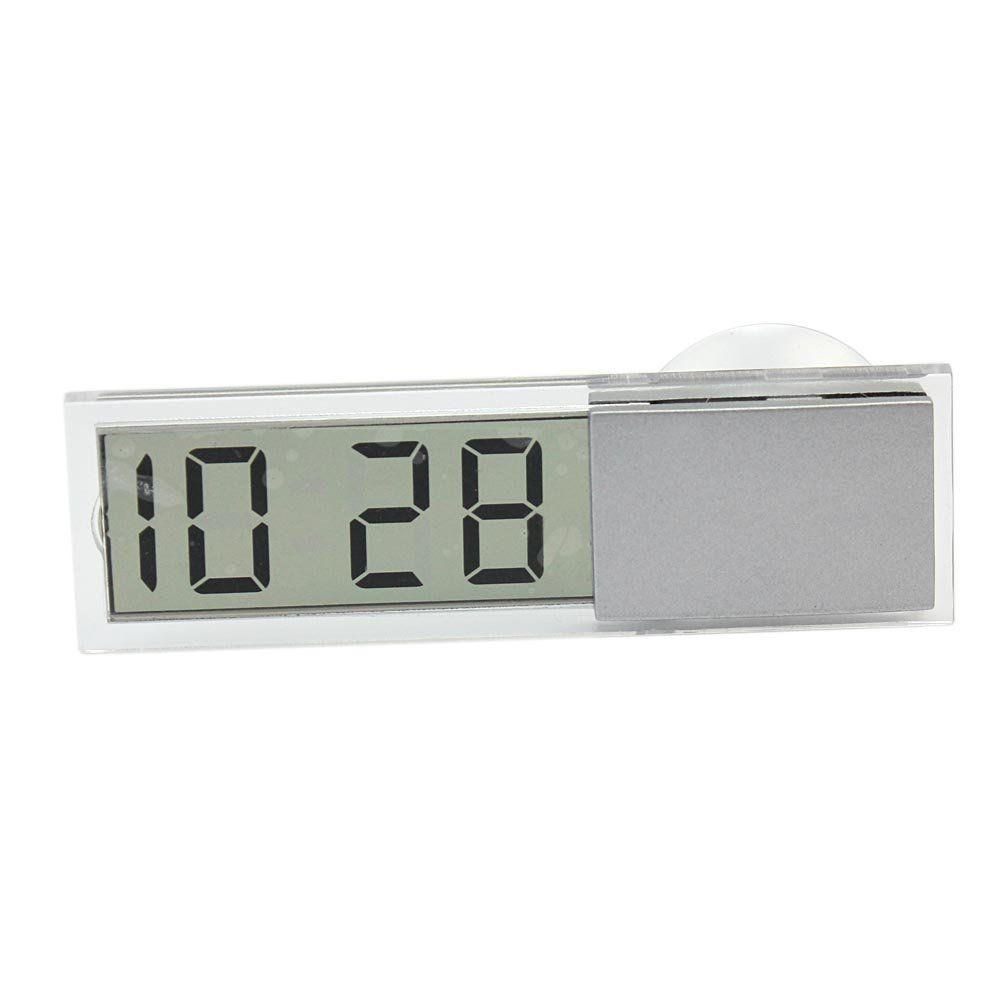 Digital LCD Car Dashboard Desk Date Time Calendar Clock Sucked type Car Electronic Digital Clock