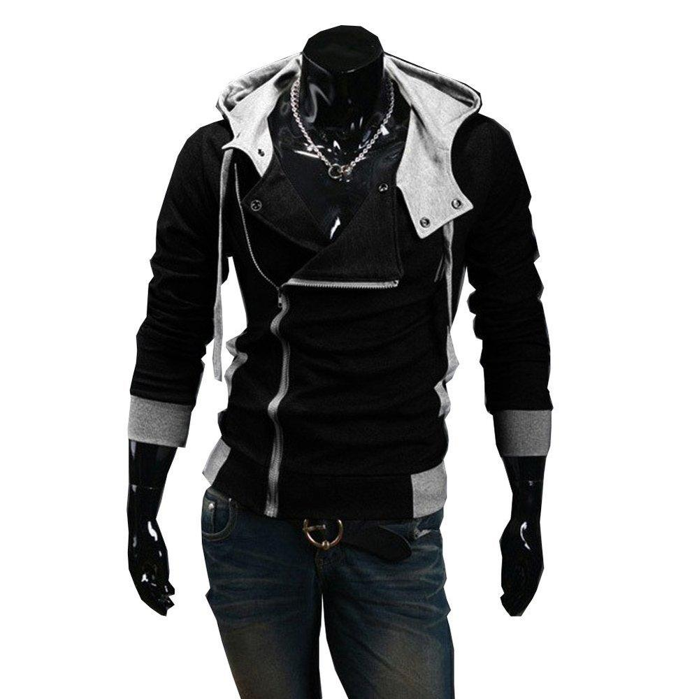 Wholesale- Autumn & Winter Zipper Casual Slim long sleeve hiphop Assassin Creed Hoodies Sweatshirt Outerwear Jackets Free Shipping