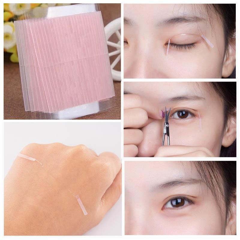 Wholesale-50 pcs Invisible Fiber Double Side Adhesive Eyelid Stickers Technical Eye Tapes M01632