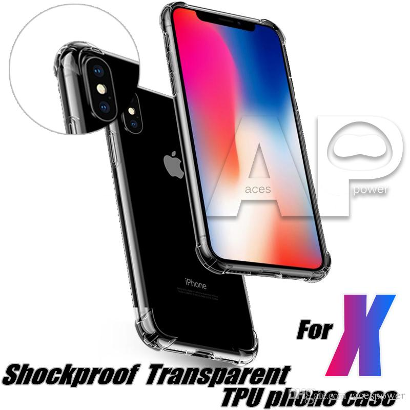 For Iphone 12 Mini 11 Pro Max XR XS Samsung S20 Ultra S9 Plus Case Shockproof Back Cover Soft TPU Gel Cases OPP Pack