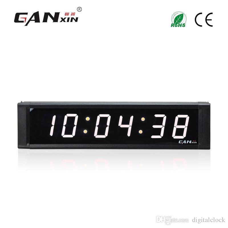 [Ganxin] 1дюйм Дисплей 6 цифр Led Часы для Внутреннего с пультом дистанционного управления Интервал тренировки таймер обратного отсчета в белом тюбике цифровые часы стены