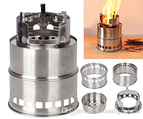 Outdoor Camping Picnic Stainless Steel Wood Twigs Cooking Stove Rack Bracket