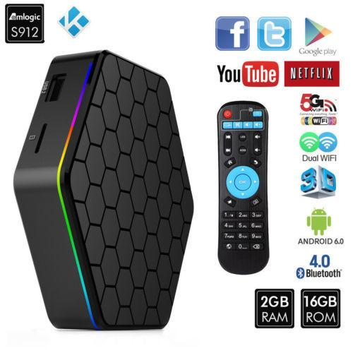 Retail And Wholesale T95z Plus T95z+ Amlogic S912 Android Tv Box 7 1 2g 16g  Dual Wifi Bt4 0 Kdplayer 4k Media Player Set Top Box The Tv Box Tv Box