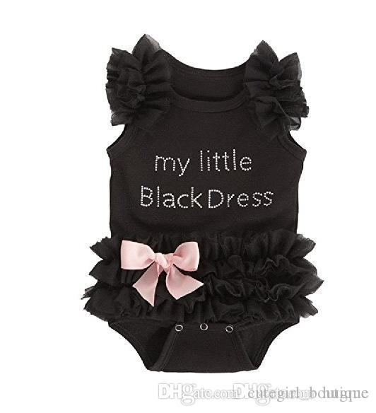 Whosale Baby summer rompers infant girls cotton printed flower rompers baby short jumpsuits baby Black Lace Dress