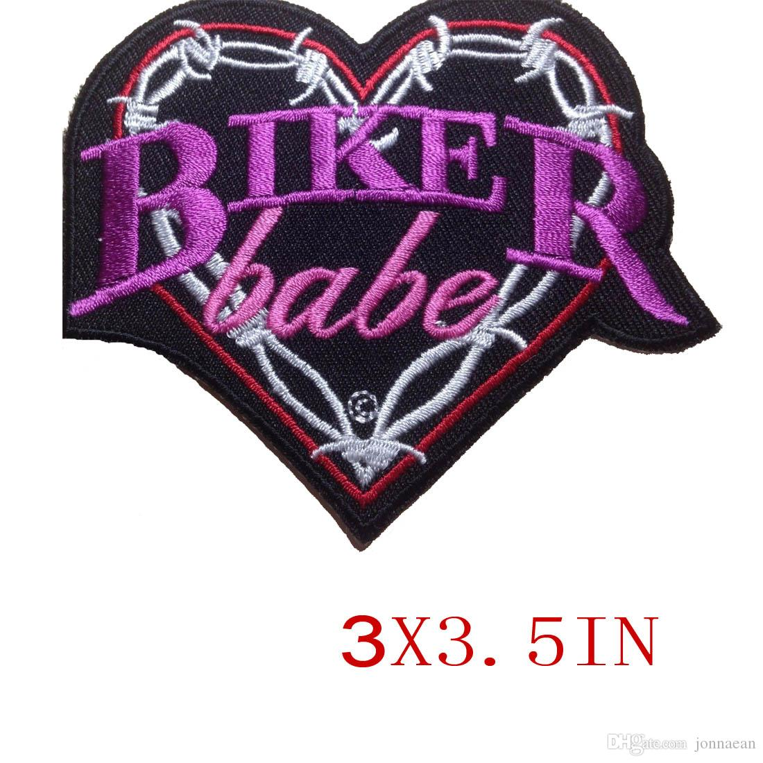 CUSTOM LOW PRICE BIKER BABE EMBROIDERED MOTORCYCLE BIKER MC ROCK IRONSEW LADIES VEST PATCH FREE SHIPPING