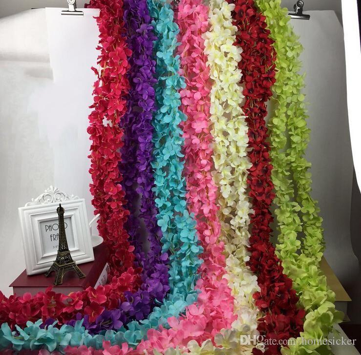 """80 """" 2 Mètre Élégant Fleur De Soie Artificielle Wisteria Vigne Rotin Pour Maîtresses De Mariage Décorations Bouquet Guirlande Maison Ornement"""
