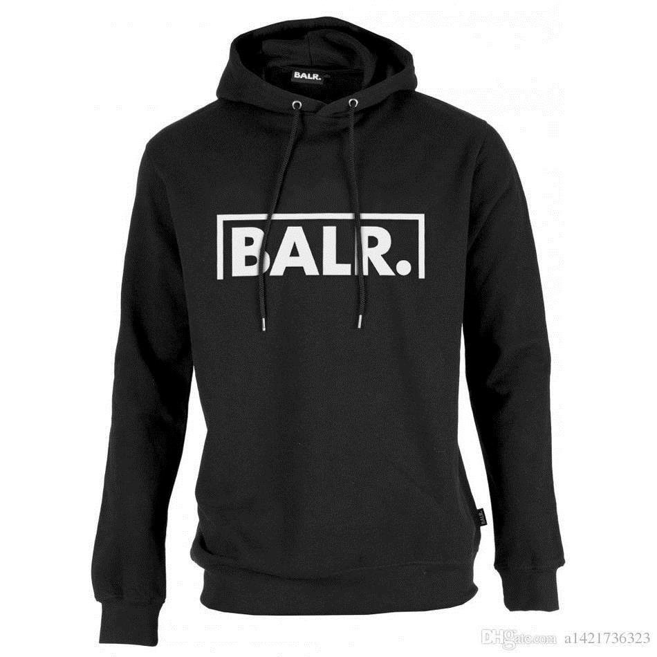 2019 polaire BALR Casual Unisexe Hoodies Sweat Cool Hip Pop Pullover Menswomen Sportwear Manteau Jogger Survêtement De Mode