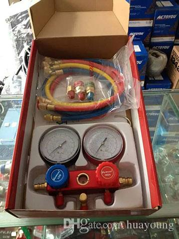 car AC A/C Manifold Gauge Set Hose Air Conditioner Refrige R134a R12 R22, AC Diagnostic Manifold Gauge Tool Set