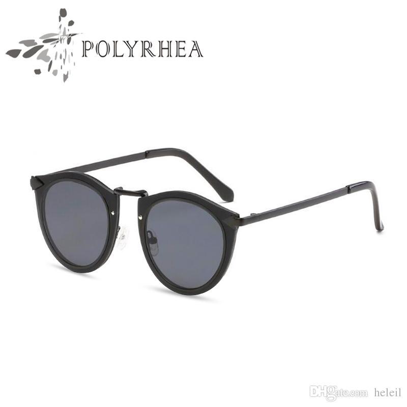 2018 Oval Sunglasses Women Brand Designer Retro Sunglasses Women Luxury Fashion Women Reflective Coating Mirror Sun Glasses With Box