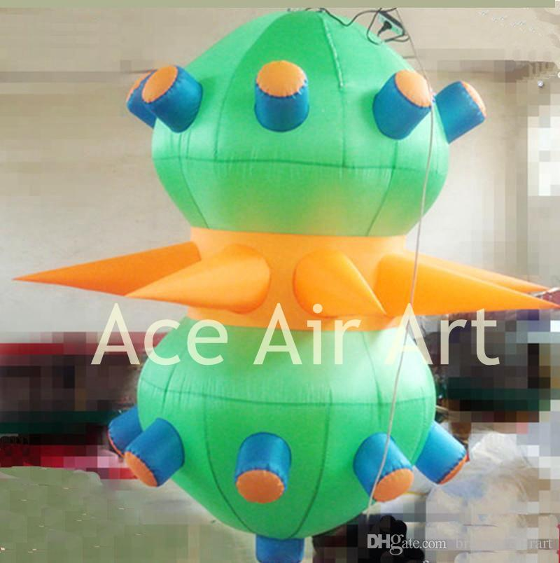 2m long colorful party decoration beautiful ceiling hanging Inflatable UFO for stage decorations in the USA