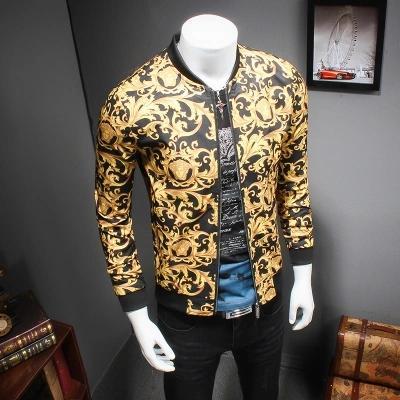 الجملة-جديد جودة عالية الخريف والشتاء الرجال معاطف 3d طباعة ملابس رجالية الأزياء البيسبول سترات معاطف سترات معطف الذكور