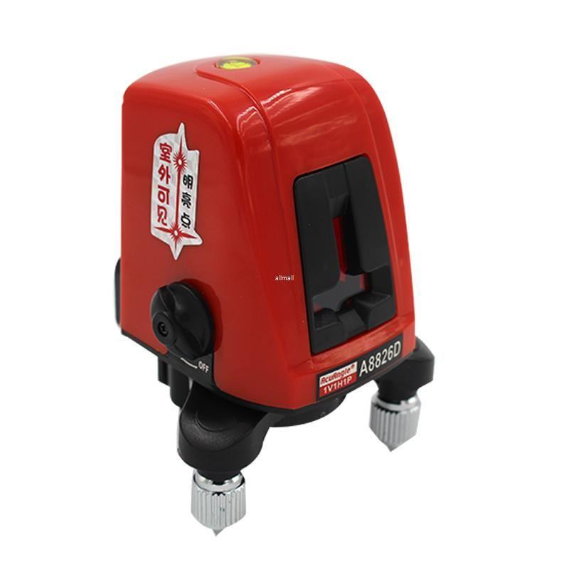 Freeshipping 360 градусов самовыравнивающийся Портативный мини-крест Красный лазерный измеритель уровня 2 линии 1 точка 635 нм выравнивания инструмент