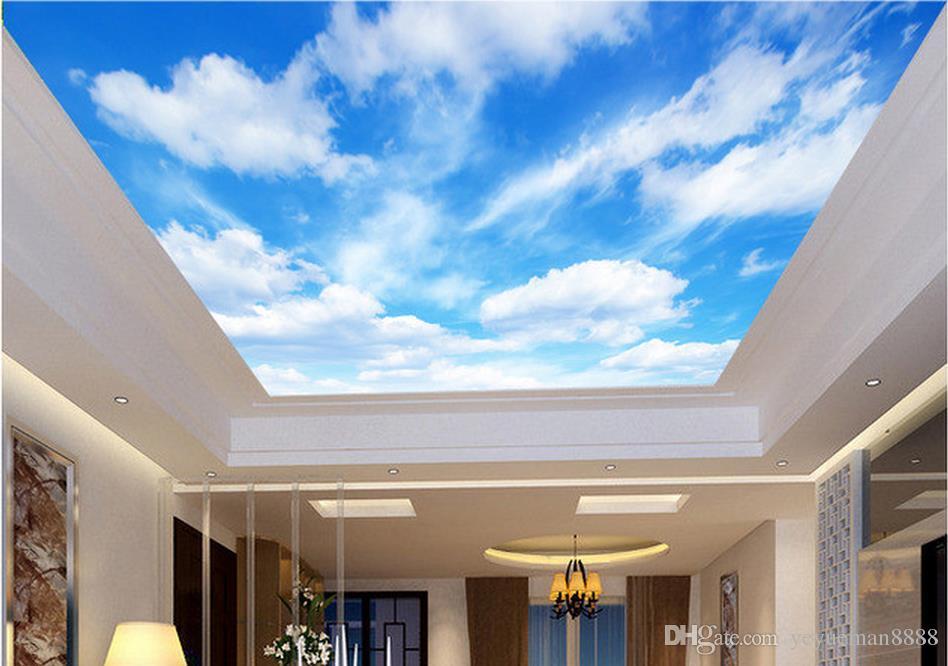 Custom Wallpaper For Walls 3d Ceiling Murals Wallpaper Blue Sky