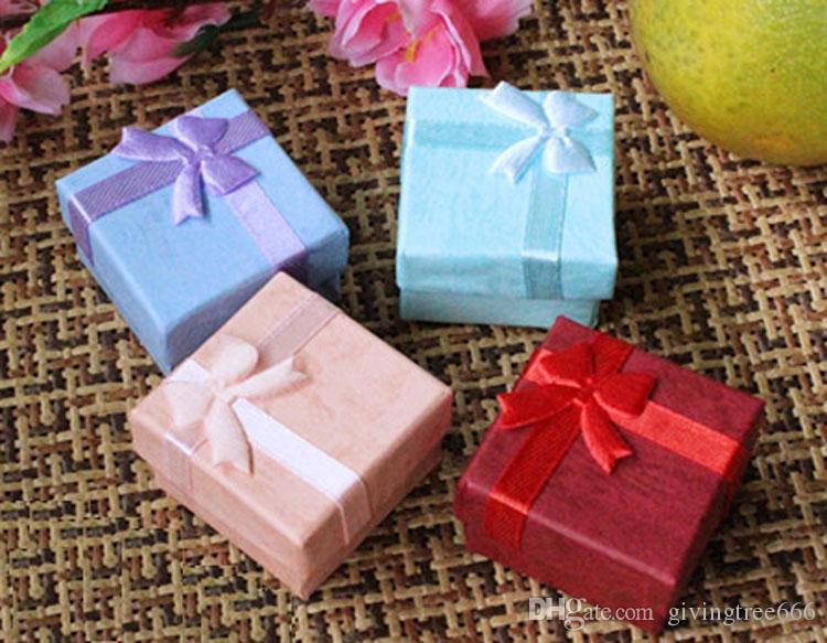 Epack 192pcs portagioie scatole regalo anello perline scatola formato 4x4x3 cm scegli 10 colori