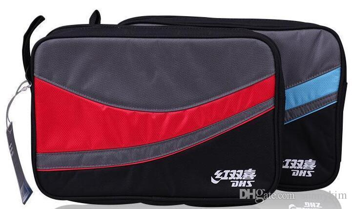 The best DHS RC107 RC108 square Oxford cloth table tennis Racket Cover Single set double happiness ping pong bag