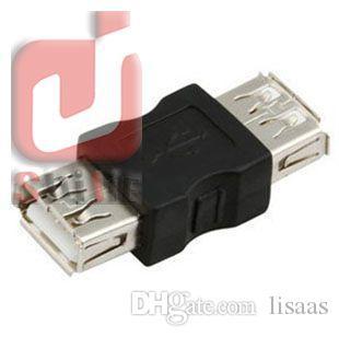 도매 - 좋은 품질의 USB 여성 성별 체인저 USB 2.0 어댑터 무료 배송 1000pcs / lot